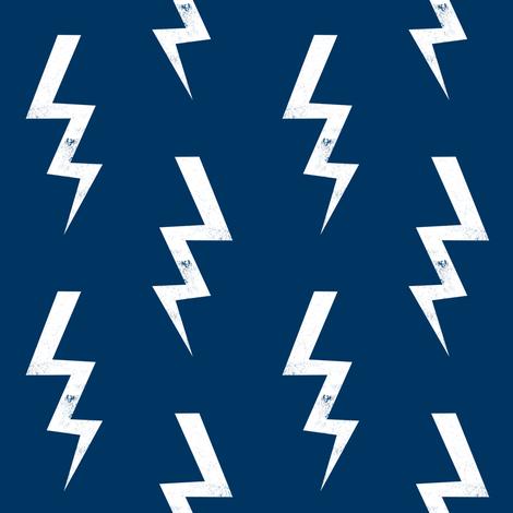 Colorful Fabrics Digitally Printed By Spoonflower Bolt Fabric Halloween Lightning Bolt Design Super Hero Bolt Design Navy Lightning Bolt Design Fabric Custom Fabric