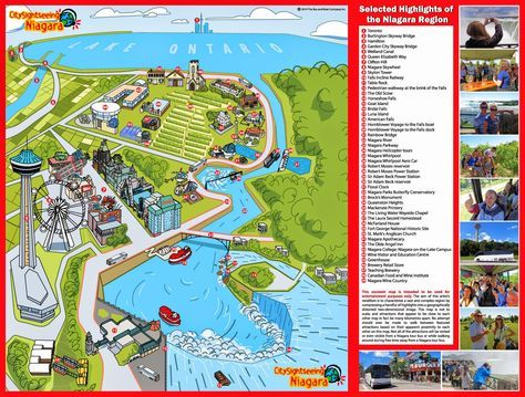 Niagara map Niagara Falls in 2019 Pinterest
