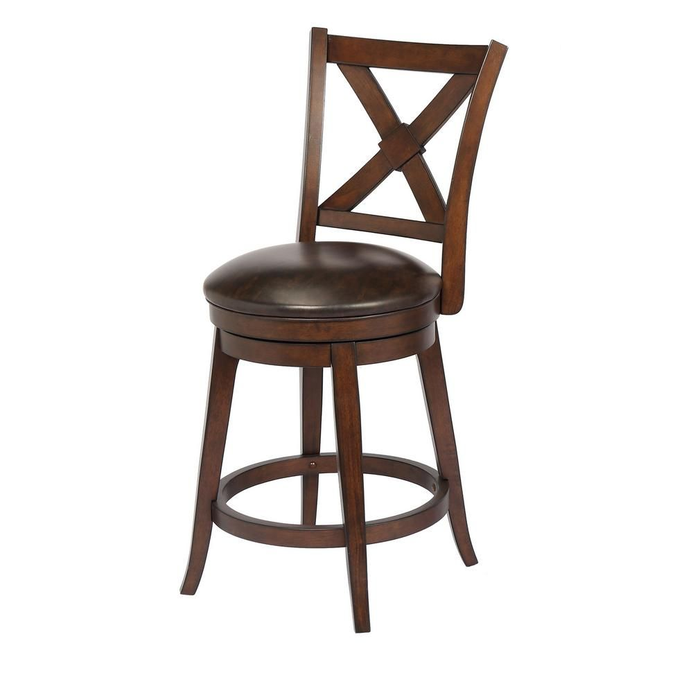 Awesome Craft Main Bailey 24 In Walnut Counter Height Swivel Bar Squirreltailoven Fun Painted Chair Ideas Images Squirreltailovenorg