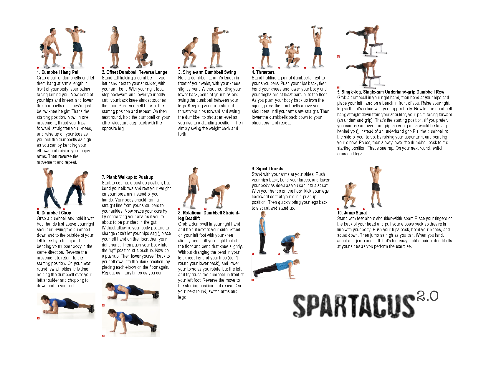 photo regarding Spartacus Workout Printable identified as Pin upon effort outs