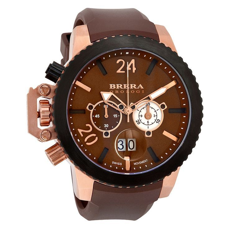 653e46bb0 Brera Orologi Militare Chronograph Brown Dial Brown Rubber Men's Watch  BRML2C4804 - Men's Watches - Jomashop - quality mens watches, mens and  womens watches ...