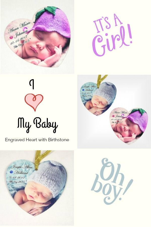 Adorable heart engraved with a newborns 1st photo their name adorable heart engraved with a newborns 1st photo their name birth date and weight negle Image collections