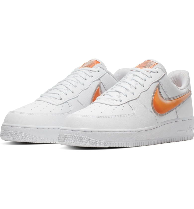 Air Force 1 '07 LV8 3 Sneaker, Main, color, WHITE ORANGE