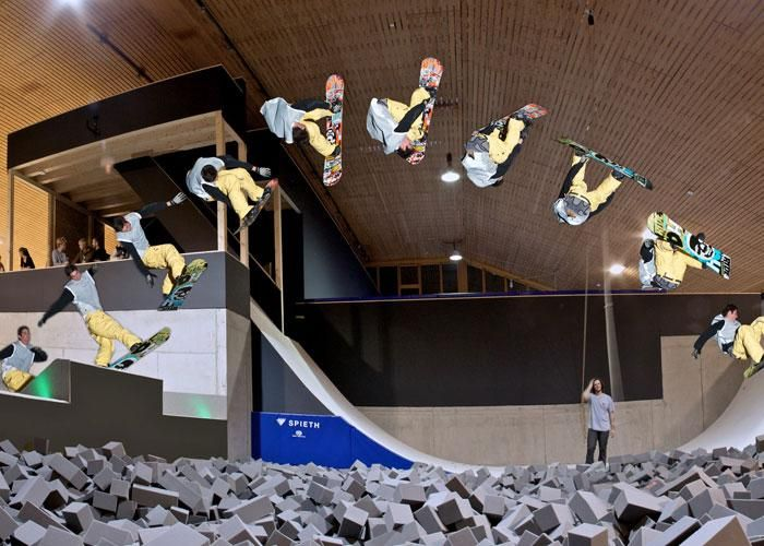 The Indoor FreeStyle Academy is the only facility of its kind in Europe. http://www.powderbyrne.com/ski/laax