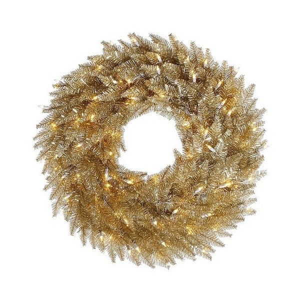 Dura Lit Christmas Champagne Wreath 165 Brl Liked On Polyvore Featuring Home