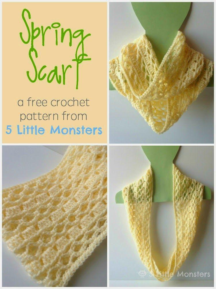 Spring Scarf Free Crochet Pattern Moogly Community Board