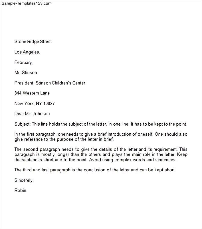 formal business letter spacing sample templates proper format