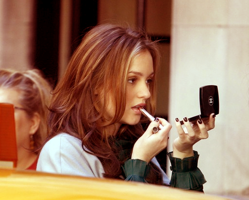 not only do i adore leighton meester but i'm obsessed with this hair color