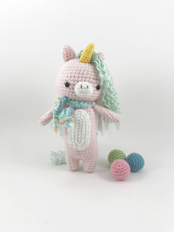 Amigurumi Unicorn Doll, Crochet Unicorn, Stuffed Unicorn, Crochet ...
