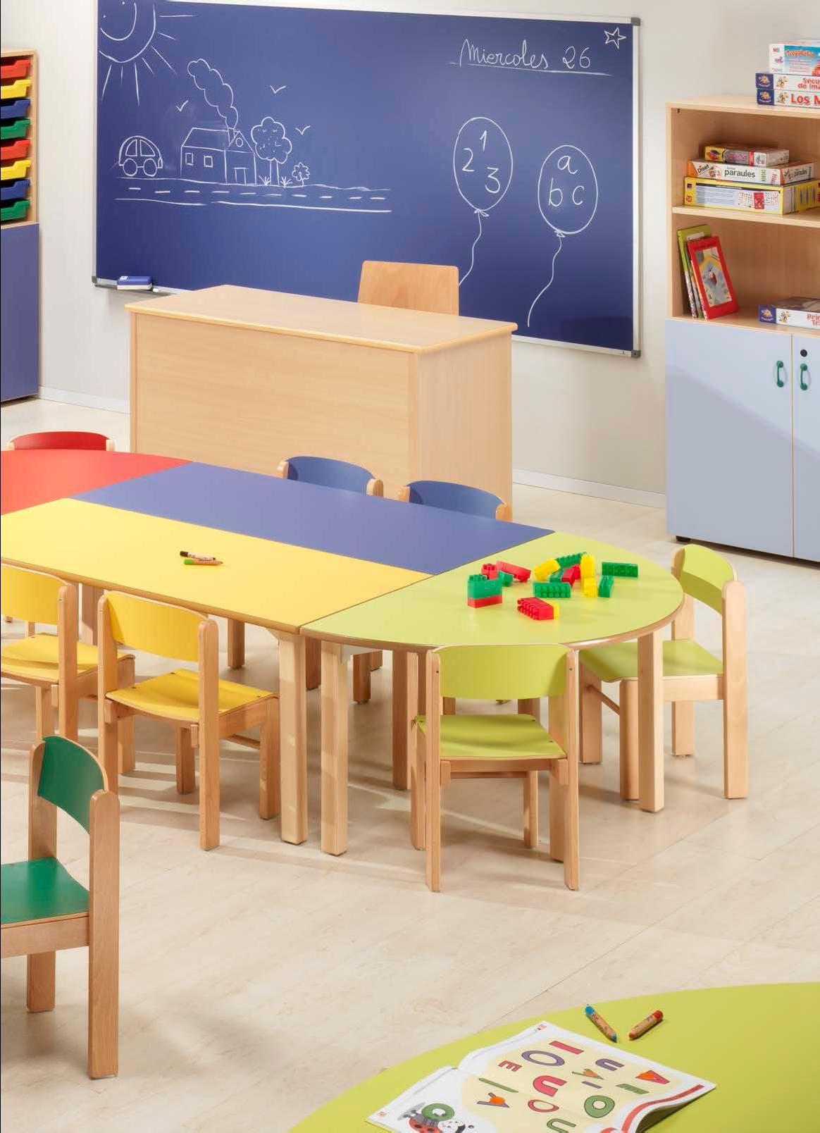 Mobiliario escolar para guarder a ni os de 3 a os for Muebles para guarderia