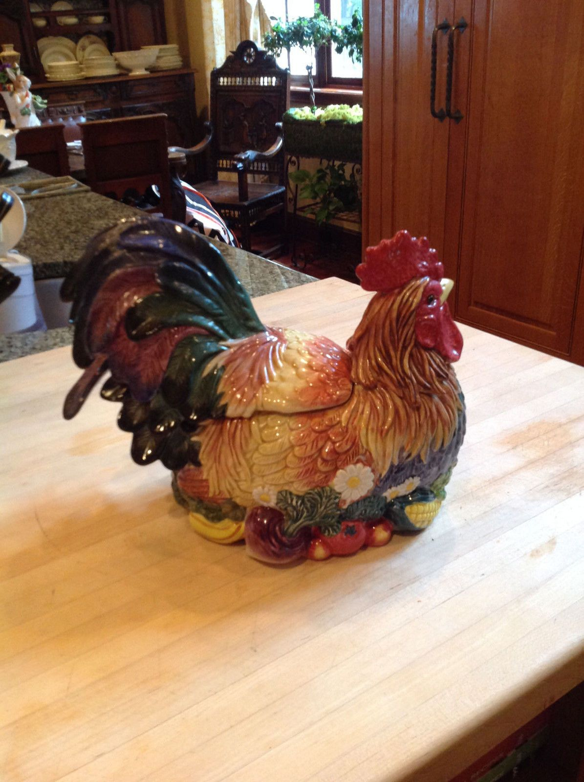 Certified international parisian fruit canister by susan winget set - Fitz And Floyd Rooster Soup Tureen With Ladle