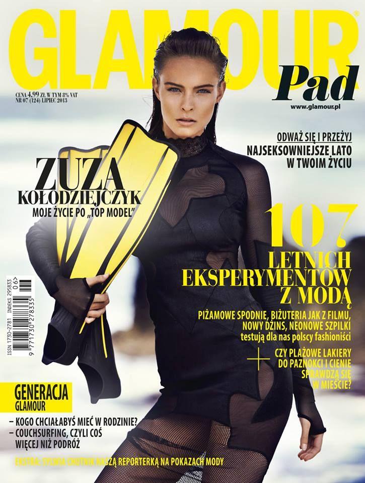Finał Top Model 3: Zuzanna Kołodziejczyk na okładce Glamour, fot. Mateusz Stankiewicz