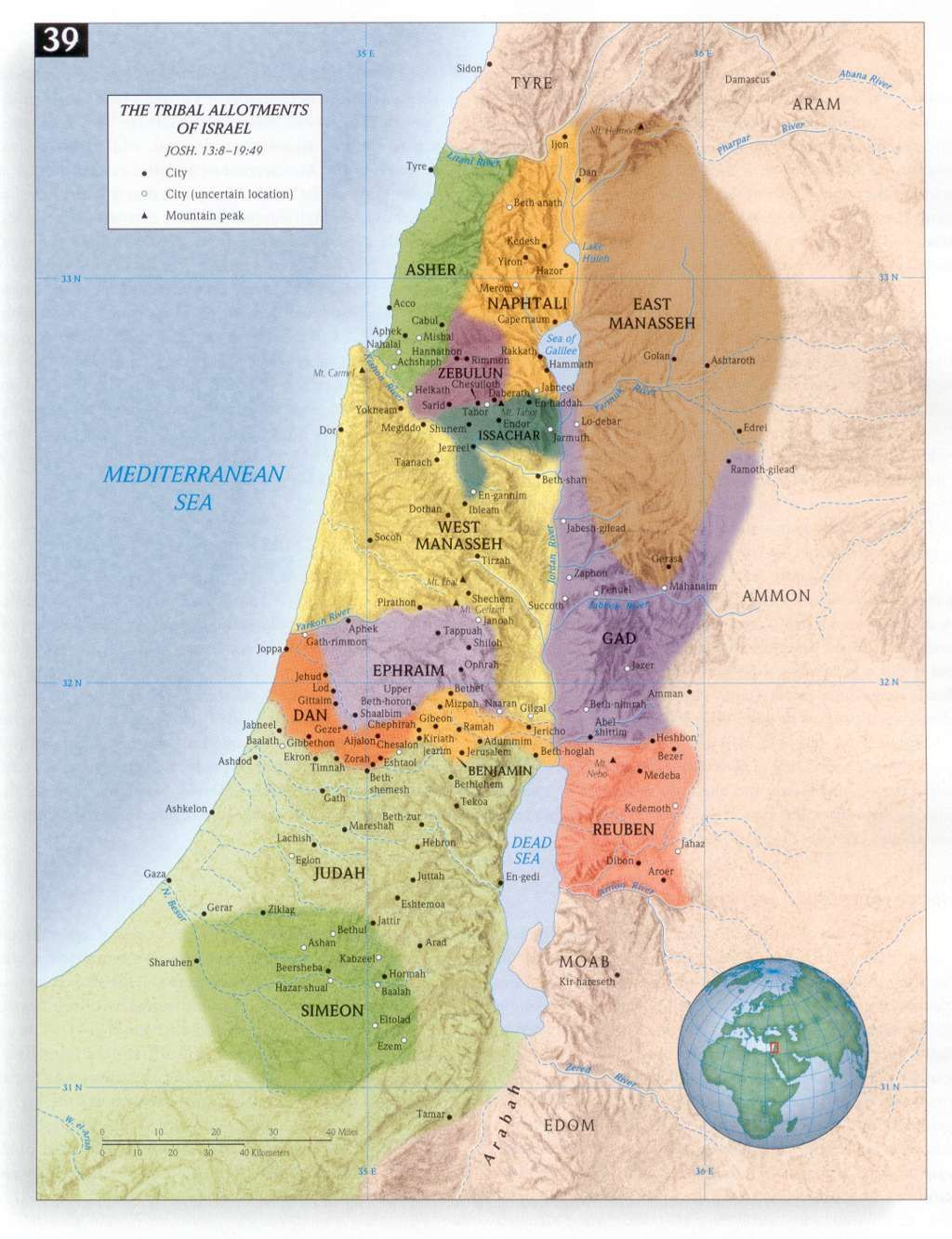 Map of the 12 Tribes of Israel | Me | Bible mapping, Judges of ...  Tribes Of Israel Today Map on