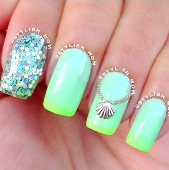 19 Pretty Nail Art Designs for Summer - Pretty Designs - 19 Pretty Nail Art Designs For Summer Beach, Nail Nail And Pretty