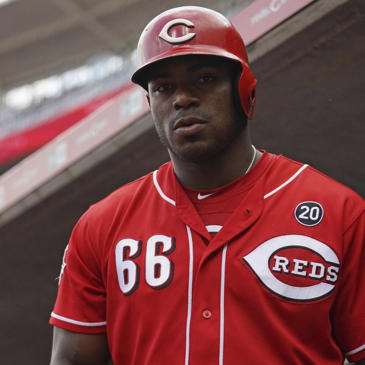 Mlb Trade Rumors Reds Of Yasiel Puig Drawing Interest From Braves In 2020 Yasiel Puig Braves Atlanta Braves
