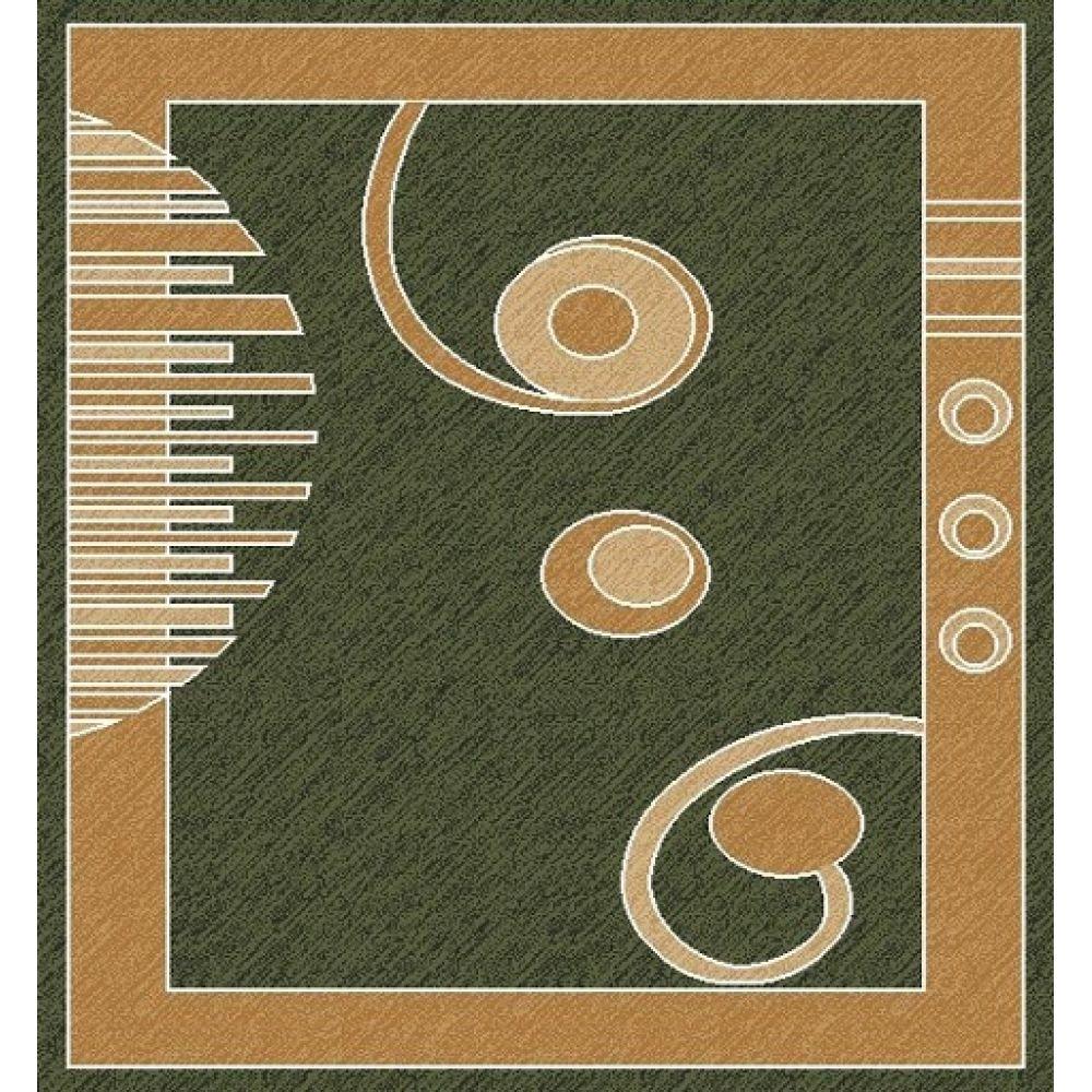 contemporary 725 green 5' x 8 ' rug