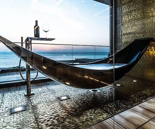 Photo of The Carbon Fiber Hammock Bathtub