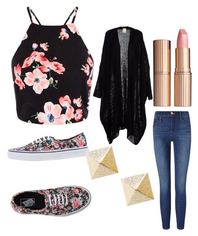 """""""Untitled #59"""" by niadoneghy ❤ liked on Polyvore featuring Frame Denim, Vans and Charlotte Tilbury"""