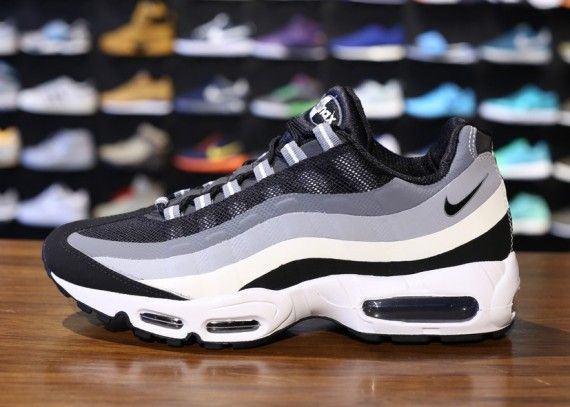 Men's Nike Air Max 95 No Sew Anthracite Volt Wolf Grey Sneakers : L71l4096