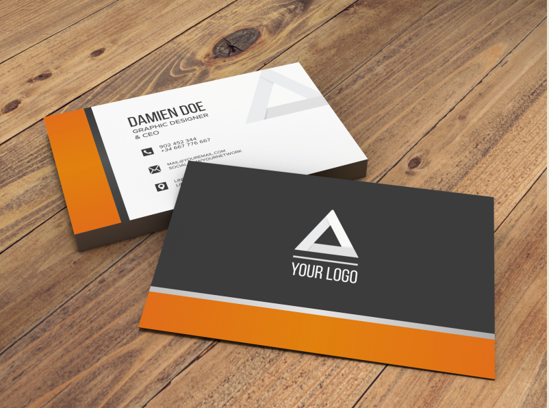 قوالب فوتوشوب جاهزة للكتابة عليها Business Card Mock Up Business Cards Mockup Psd Business Card Psd
