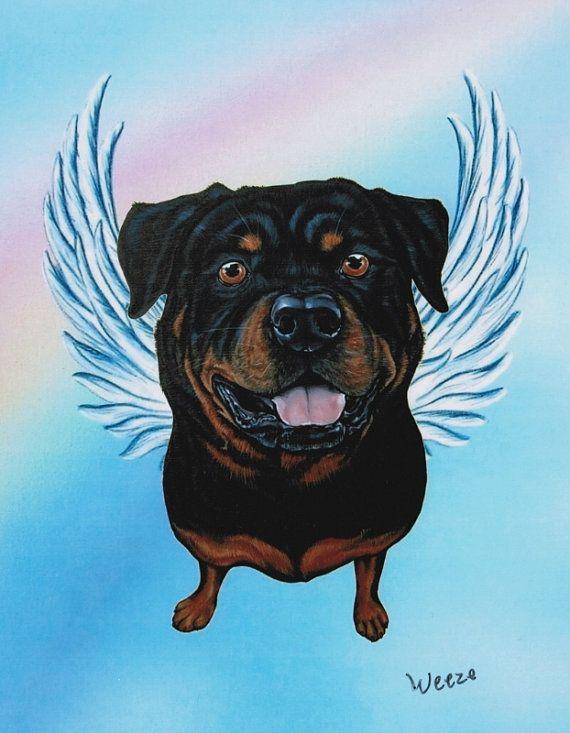 Rottweiler Angel Rottweiler Art Dog Angels By Artbyweeze Dog