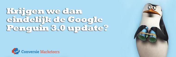 'In oktober is het alweer een jaar geleden sinds de laatste update van Google's algoritme Penguin uitkwam. Mogelijk duurt de volgende Penguin update niet lang meer als we Google medewerker John Mueller mogen geloven. '  Hoe groot is deze update en wat zullen de effecten zijn? Lees er alles over in ons laatste blogartikel:  http://conversiemarketeers.nl/nl/blog/zoekmachine-optimalisatie/google-penguin-3-update/  #google #update #penguin #googlepenguin #SEO #onlinemarketing #blog