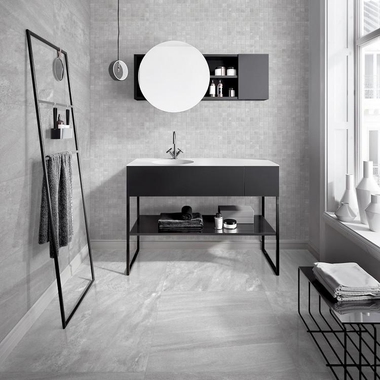 Photo of Partner bianco lappato mosaikk 5×5 – Fliser til baderom – Fliser, stein & tilbeh …