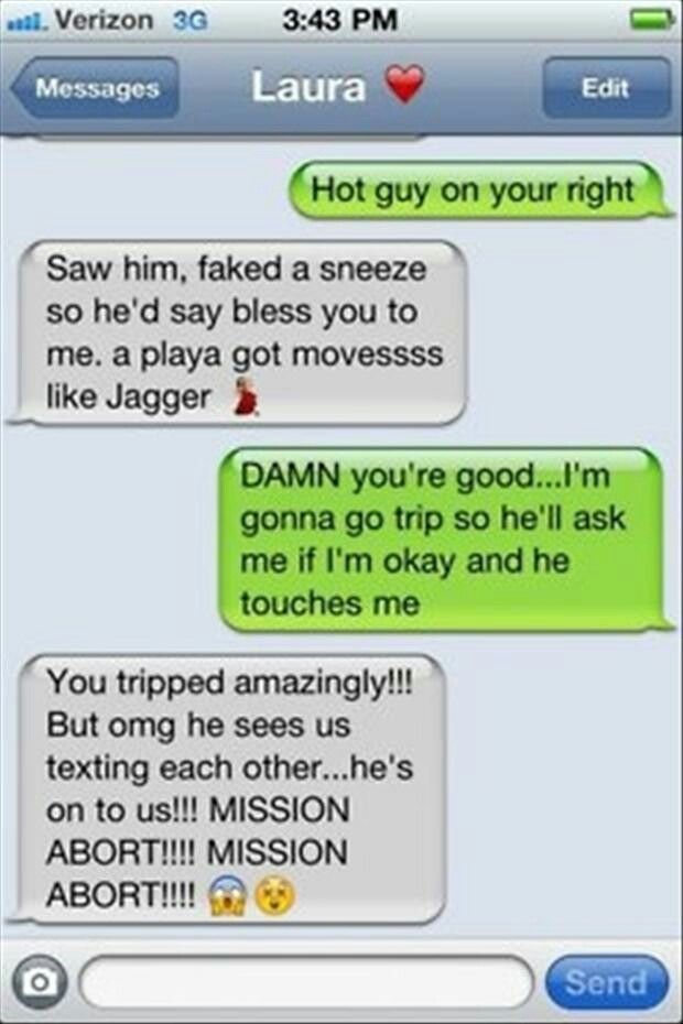 Funny random text messages to send friends