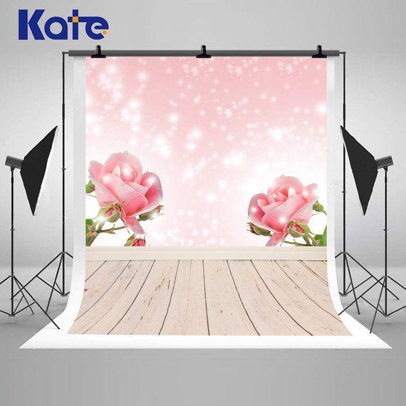 Bokeh Flowers Wedding: Bokeh Glitter Spot Pink Rose Flowers Photography Backdrops
