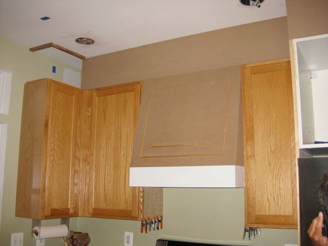 Closing The Space Above The Kitchen Cabinets Home Diy1 Kitchen