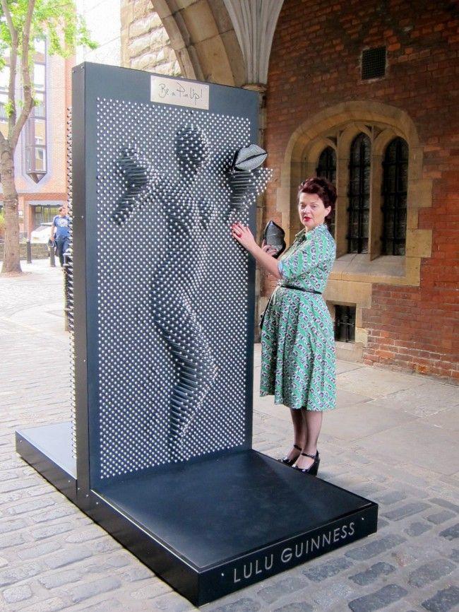 Pin art installation. Be a pin up girl :)
