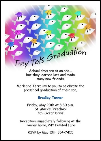 create your unique invitations and announcements for your preschool