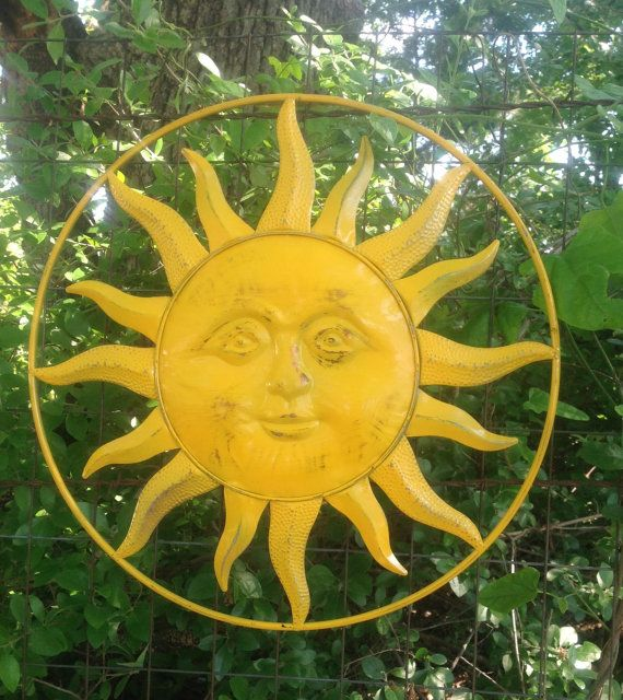 Reserved for Terry - Large Marigold Metal Yard Art - Ray of Sunshine ...