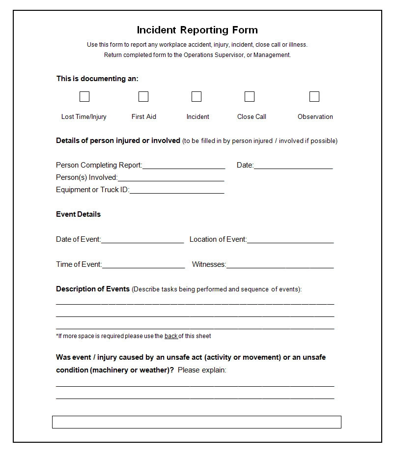 14 Free Incident Report Templates Ms Word Pdf Formats Incident Report Form Incident Report Report Template