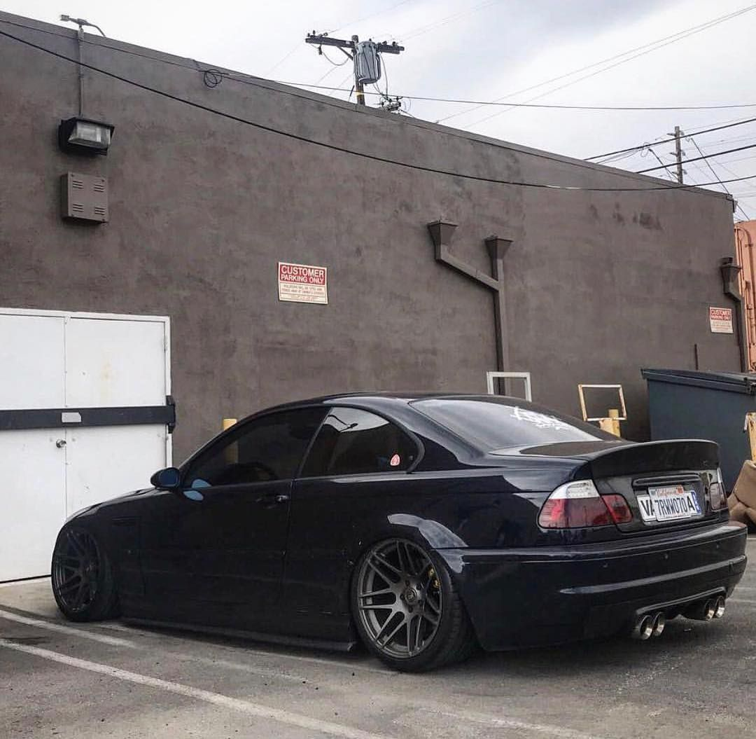 Bmw E46 M3 Black Slammed Cars Wallpapers In 2020 With Images