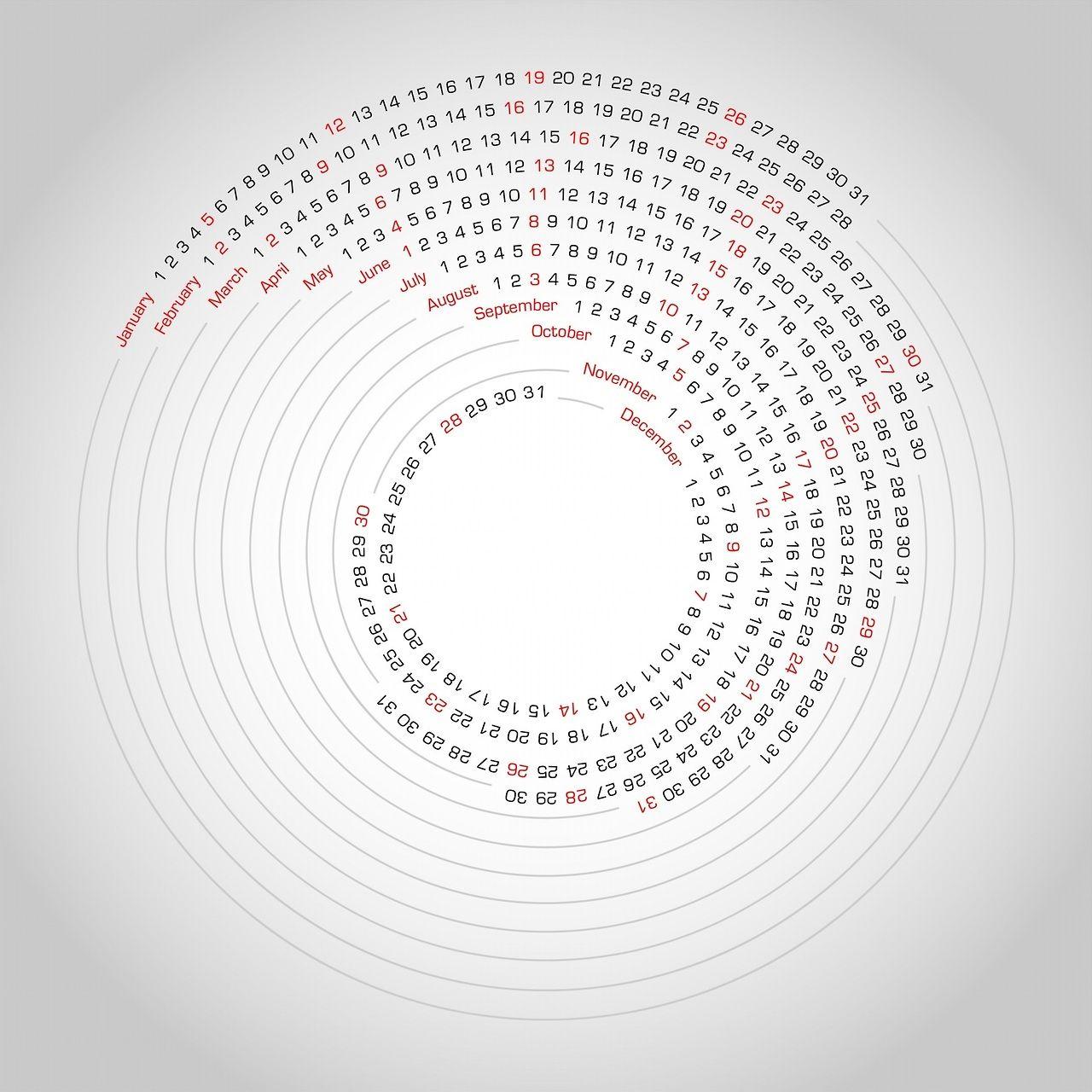2014 Calendar Typografische Poster Cirkels