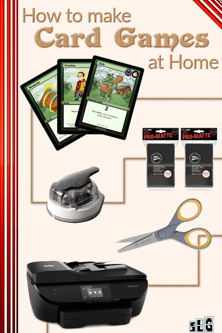 Diy How To Print Card Games From Your Own Home Streamlined Gaming Card Games Board Game Design Game Card Design