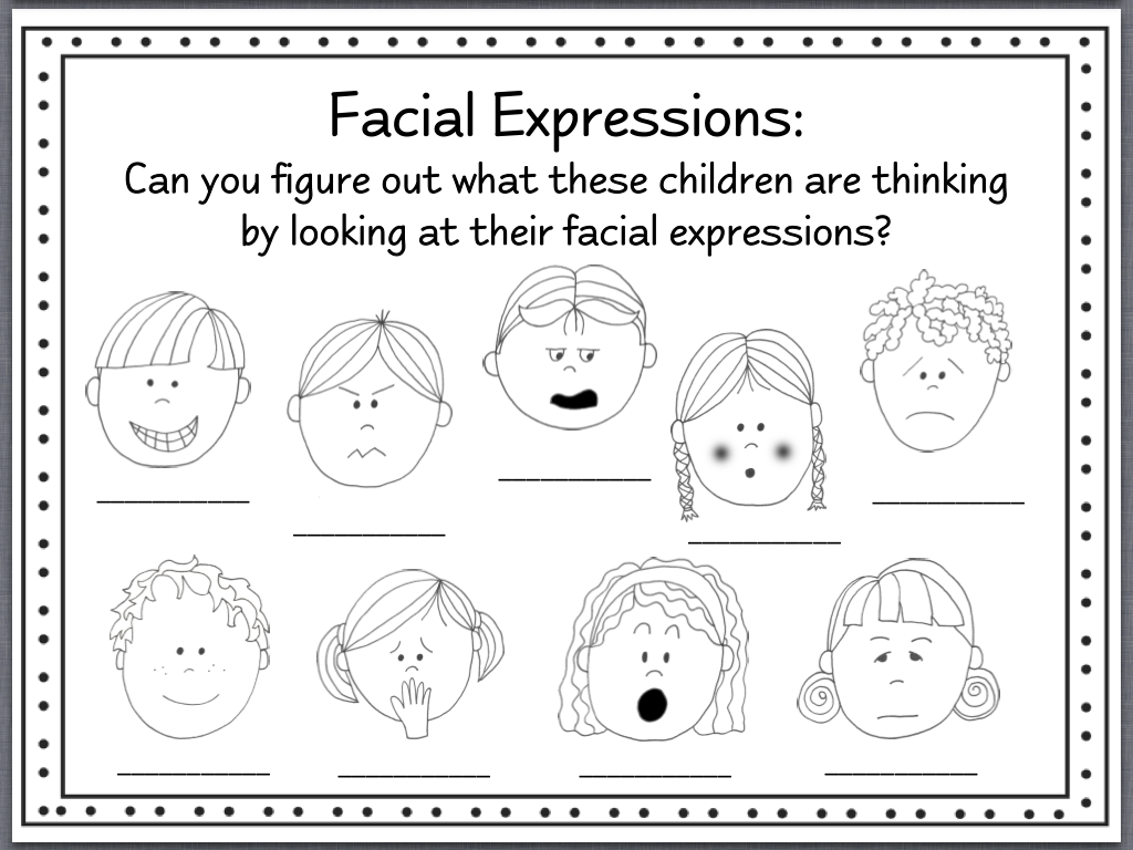 Identifying Feelings Worksheet
