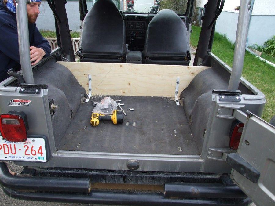 Rear Wall Secured From The Inside Jeep Tj Jeep Jeep Yj