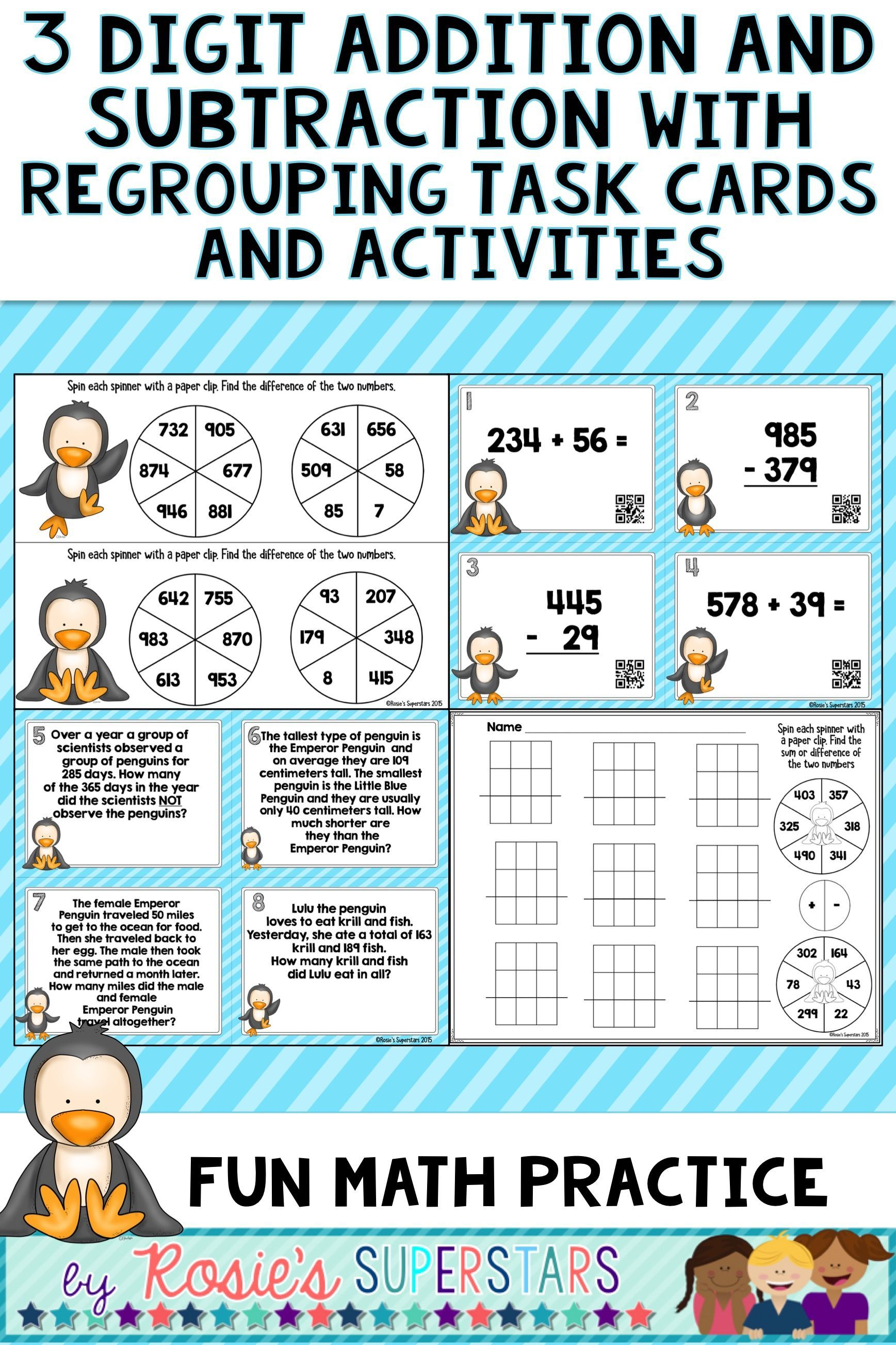 These Super Cute Penguin Themed Task Cards And Activities