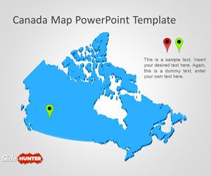 Free Canada Map Powerpoint Template Powerpoint Templates Presentation Slides Templates Canada Map