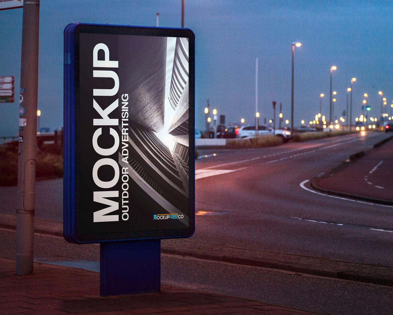 Bus Stop Outdoor Advertising Free Mockup Outdoor Advertising Outdoor Advertising Mockup Free Mockup