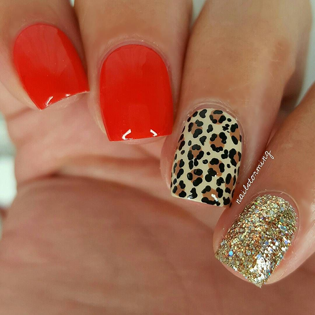 Red and leopard. So classy and sexy Shop nail art supplies at www ...