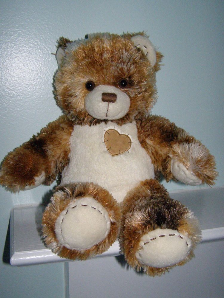 """Build-a-Bear Workshop Plush Tie Dye Teddy Bear Toy w Heart on His Chest 15"""" #AllOccasion"""
