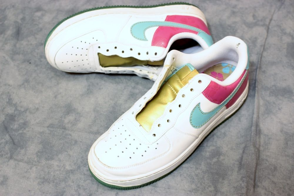 new products 19d76 8d09d Men Nike Air Force 1 Xxv Af1 Pink Hawaiian Gold 315122 141 Shoes 7.5  Sneakers Nike AthleticSneakers