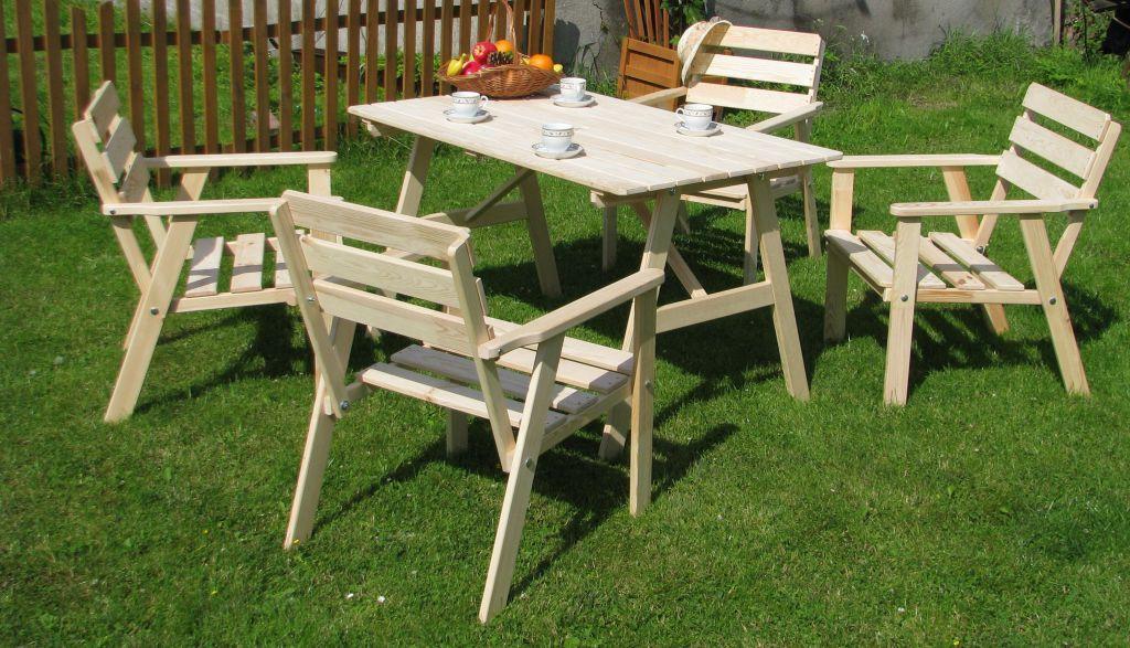 27ea78852944 Sedenie do záhrady - Drevený záhradný set Sahara - Stôl a stoličky ...