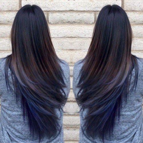 26 สไตล กระโปรง Pinterest Blue Ombre Hair Hair Coloring And