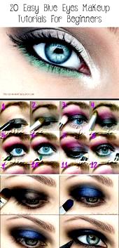 beginners blue easy eye eyes makeup tutorials 20
