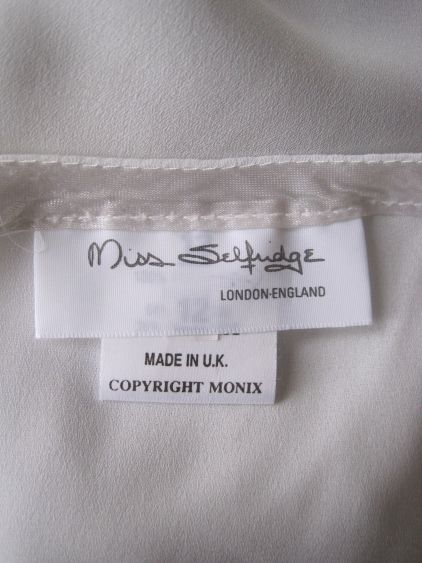 1980s Vintage Miss Selfridge Label From A Top At Virtual Vintage Clothing The Logo Hasn T Changed To This Day H Vintage Labels T Shirt Label Vintage Outfits