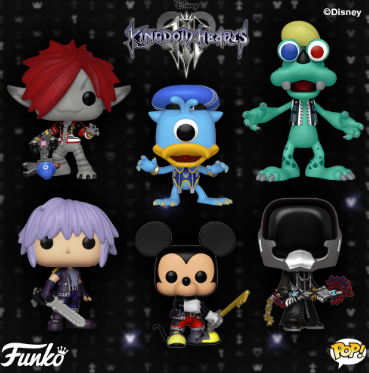 Funko Pop Disney Kingdom Hearts Iii Figures Coming This Fall Eleven New Pop In Total Three Of T Disney Kingdom Hearts Funko Pop Dolls Funko Pop Exclusives